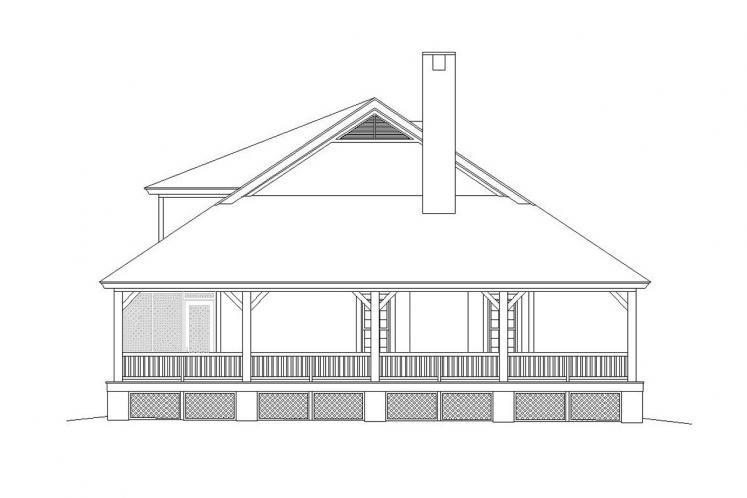 Country House Plan -  60318 - Left Exterior