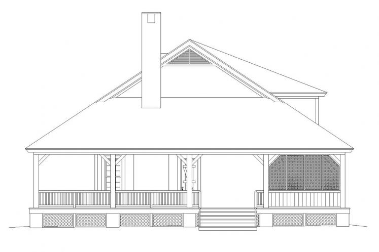 Cottage House Plan -  60318 - Right Exterior
