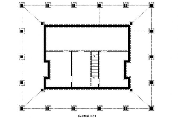 Country House Plan -  60318 - Basement Floor Plan