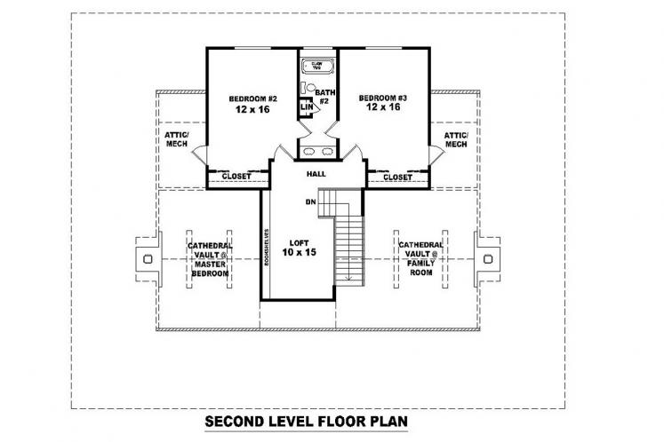 Cottage House Plan -  60318 - 2nd Floor Plan