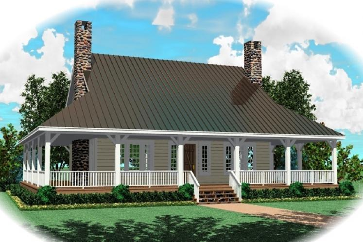 Country House Plan -  60318 - Front Exterior