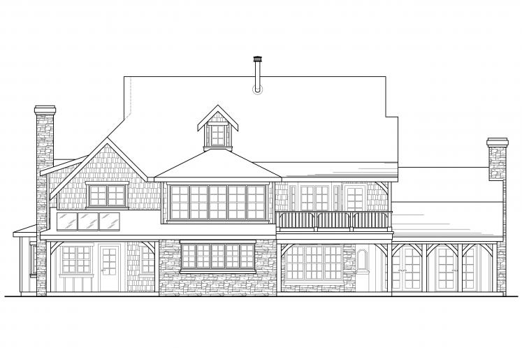 Country House Plan - Petersfield 60325 - Rear Exterior
