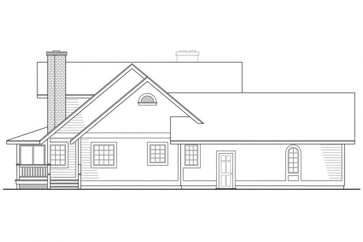 Traditional House Plan - Corbin 60349 - Left Exterior