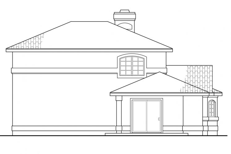 Southern House Plan - Southport 60378 - Rear Exterior