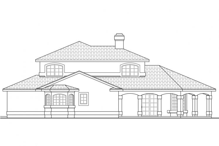 Spanish House Plan - Southport 60378 - Left Exterior