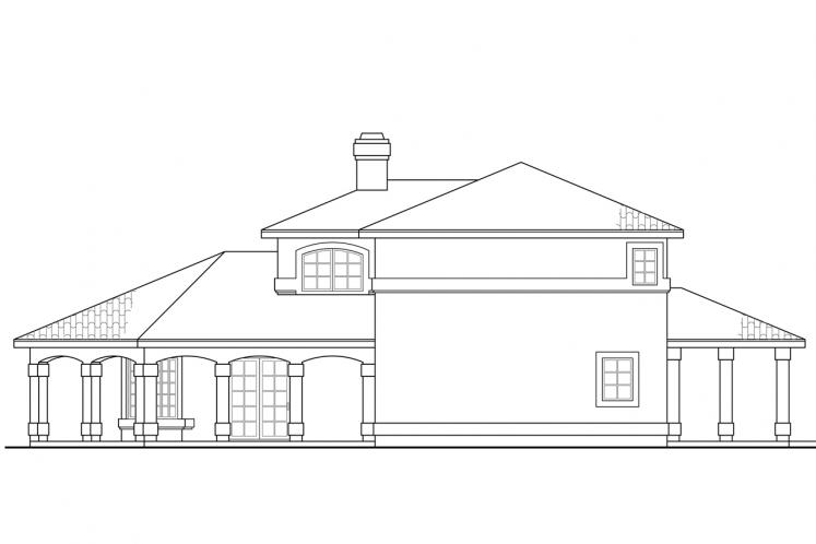 Mediterranean House Plan - Southport 60378 - Right Exterior