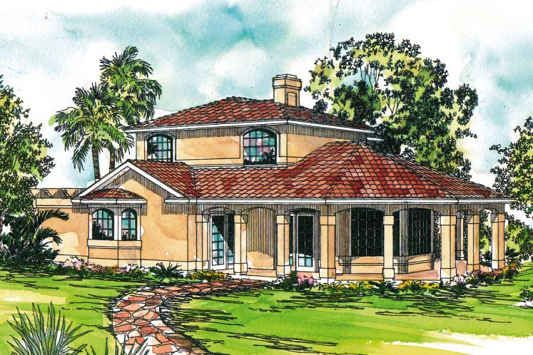 Mediterranean House Plan - Southport 60378