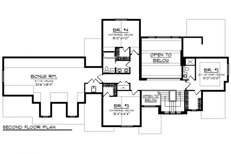 Country House Plan -  60388 - 2nd Floor Plan