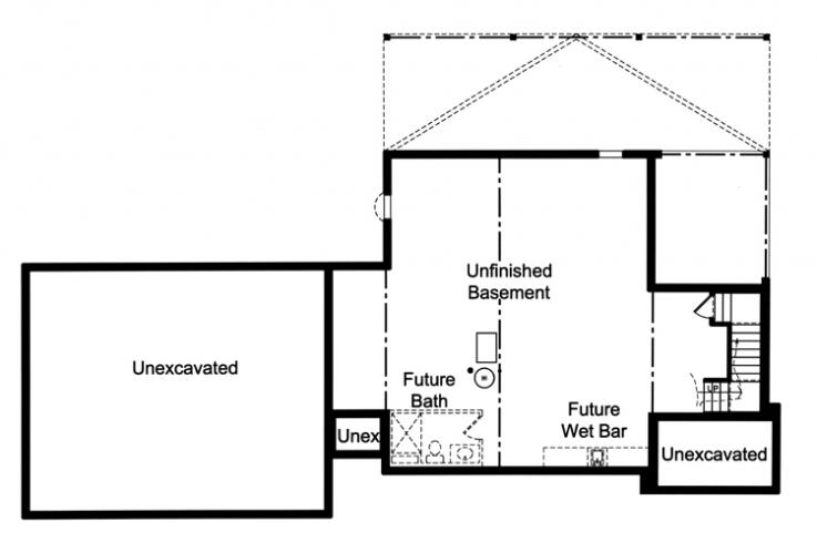 Contemporary House Plan - The Crystal Bay 60446 - Basement Floor Plan