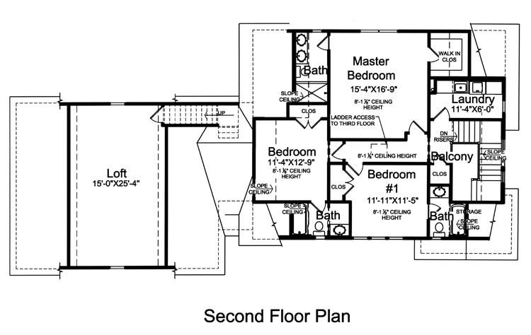 Lodge Style House Plan - The Crystal Bay 60446 - 2nd Floor Plan