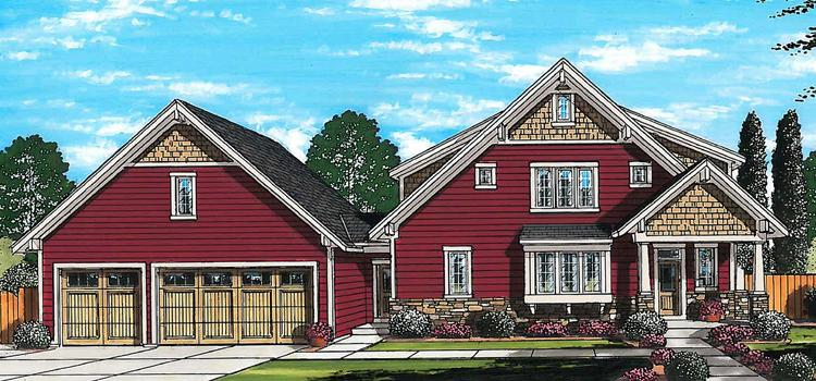 Lodge Style House Plan - The Crystal Bay 60446 - Front Exterior