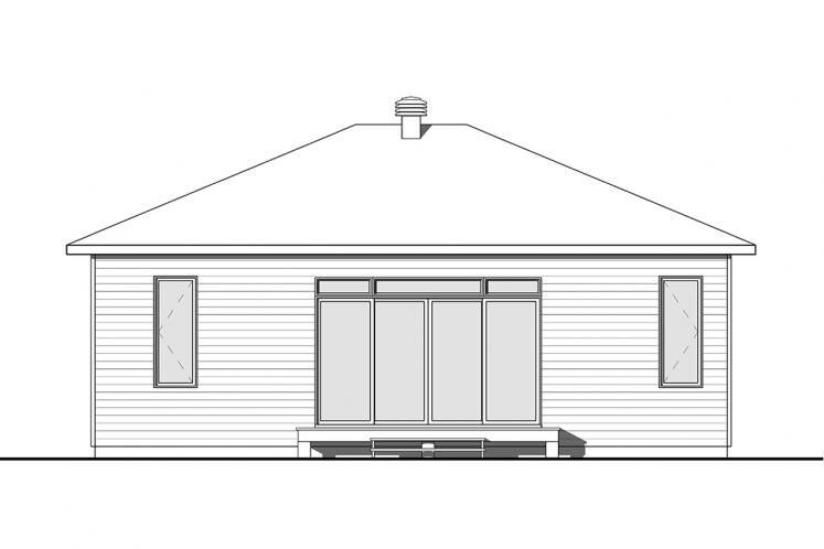 Prairie House Plan - Camille 60592 - Rear Exterior