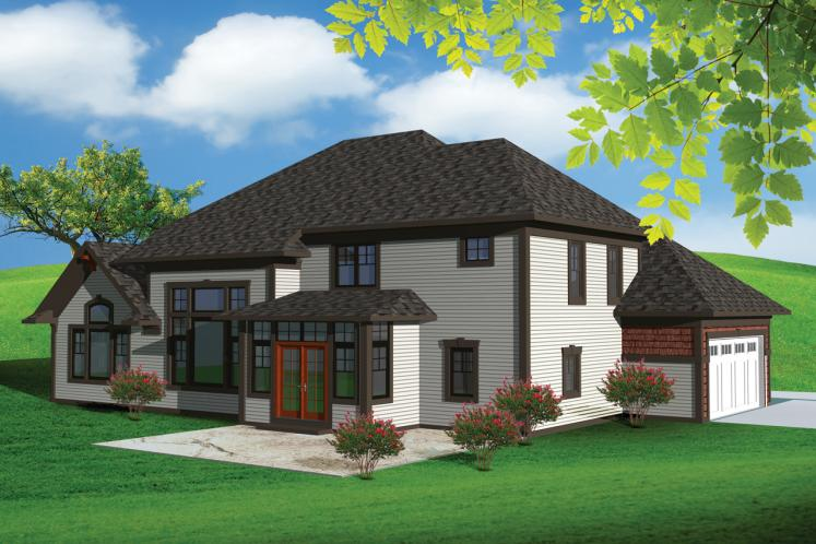 Country House Plan -  60648 - Rear Exterior