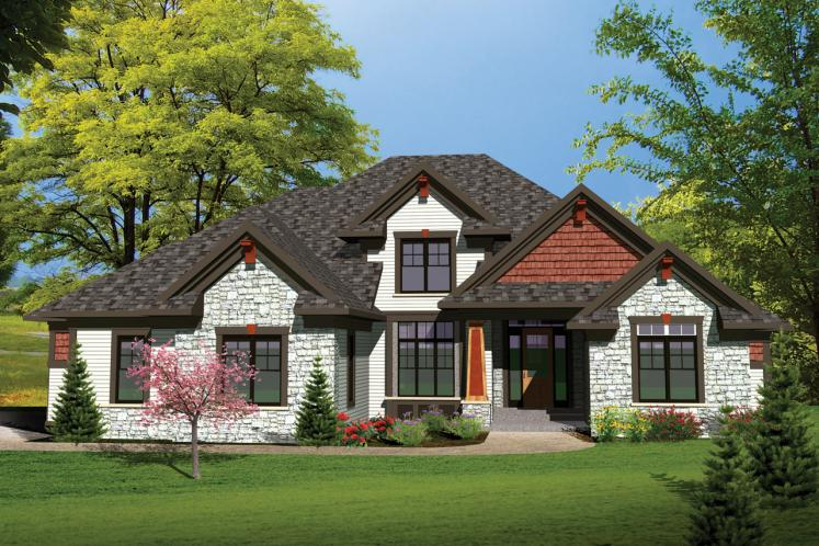 Traditional House Plan -  60648 - Front Exterior