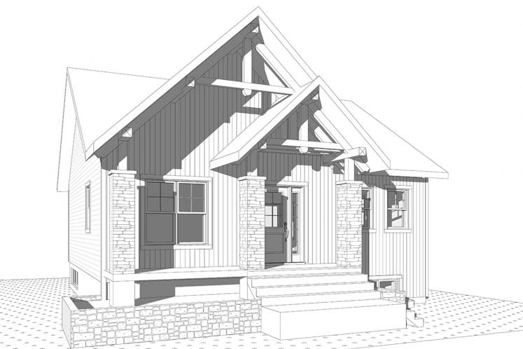 Lodge Style House Plan - Nordika 60687 - Front Exterior