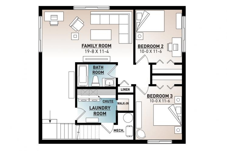 Lodge Style House Plan - Nordika 60687 - Basement Floor Plan