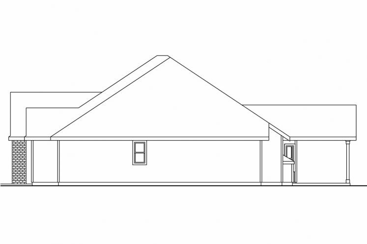 Traditional House Plan - Porterville 60713 - Right Exterior