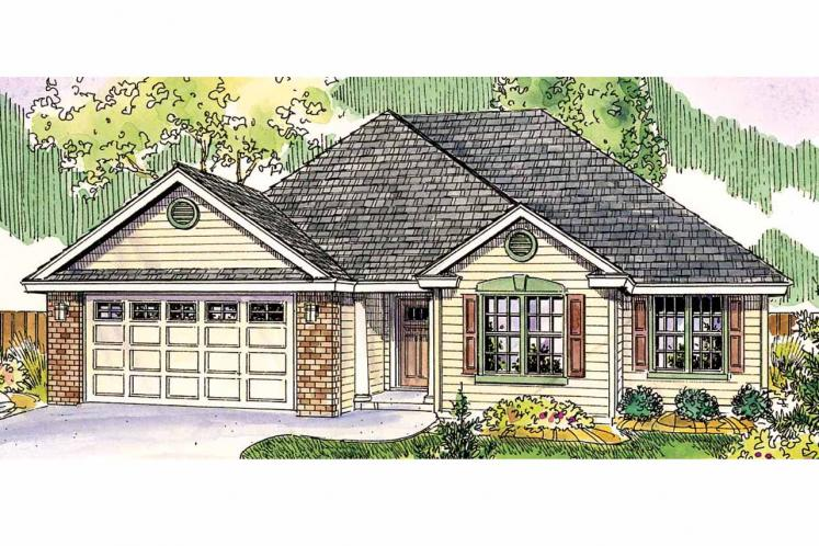 Traditional House Plan - Porterville 60713 - Front Exterior