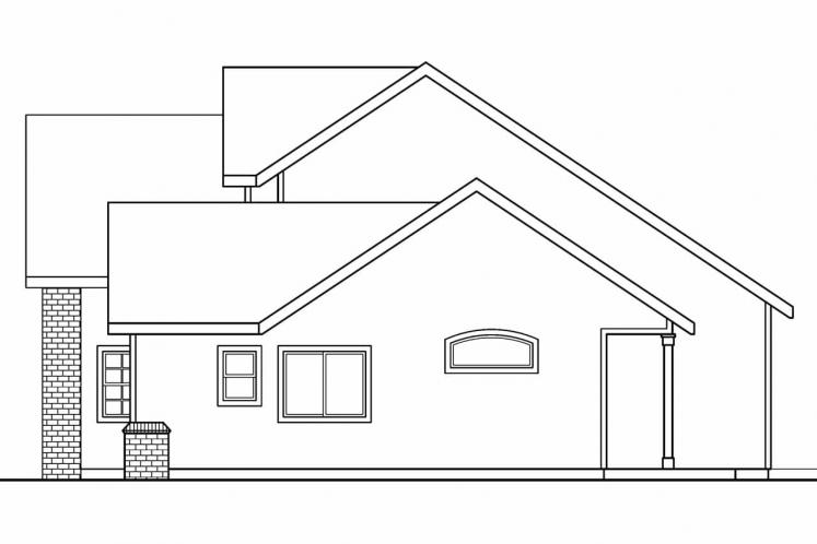 Country House Plan - Esterville 60742 - Right Exterior