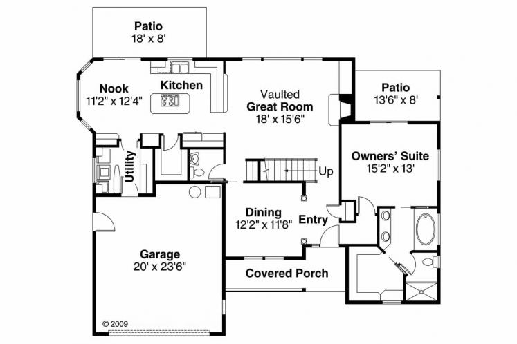 Contemporary House Plan - Esterville 60742 - 1st Floor Plan