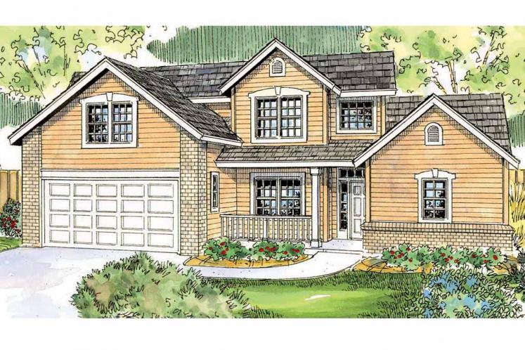 Country House Plan - Esterville 60742 - Front Exterior
