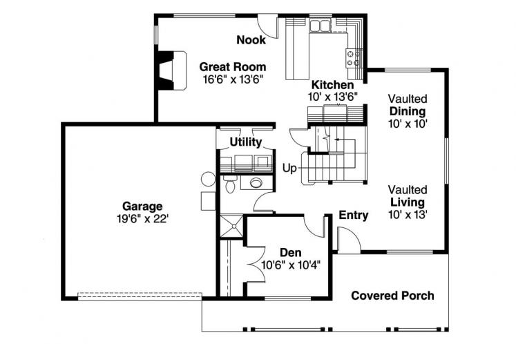 Country House Plan - Jennings 60765 - 1st Floor Plan