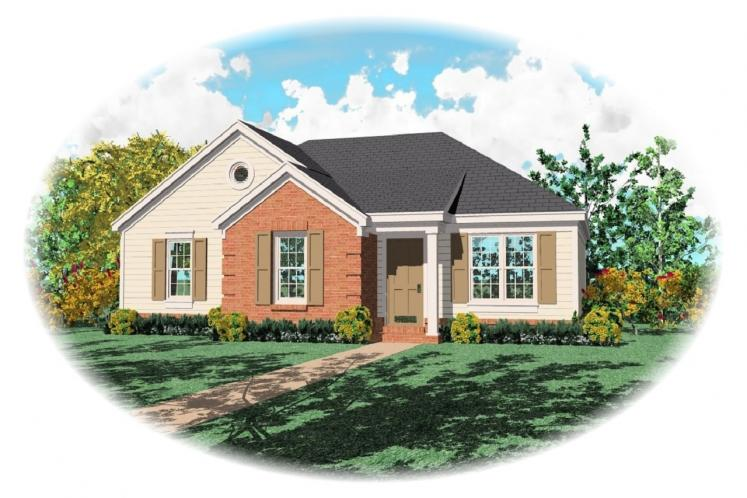 Traditional House Plan -  60835 - Front Exterior