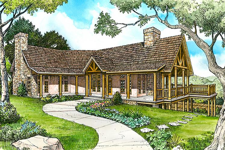 Country House Plan - Mountain Crest 60906 - Front Exterior