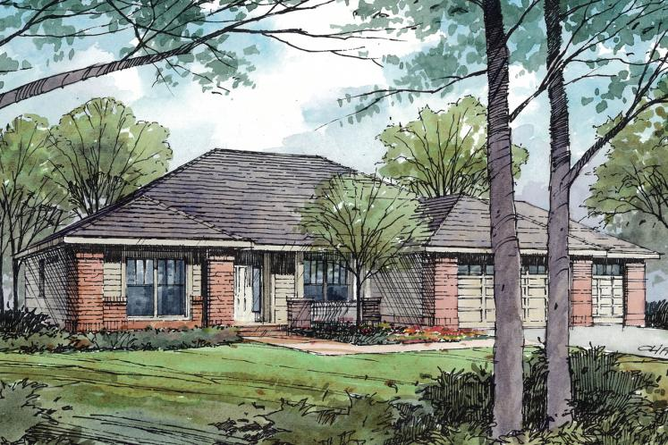 Traditional House Plan - Ambrose 60949 - Front Exterior