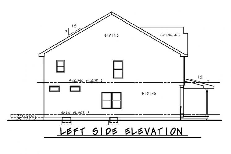 Traditional House Plan - Ames 60993 - Left Exterior