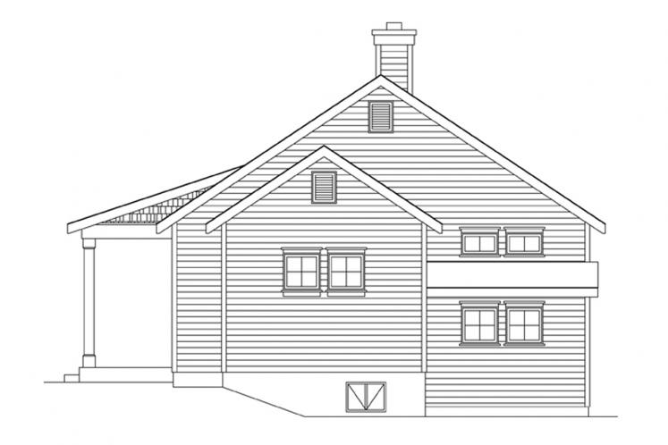 Cottage House Plan -  61212 - Right Exterior