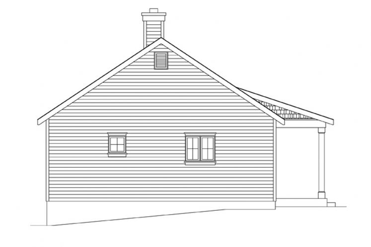 Country House Plan -  61212 - Left Exterior