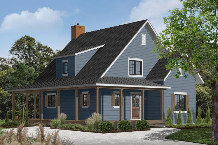 Cottage House Plan - Hickory Lane 2 61319 - Front Exterior