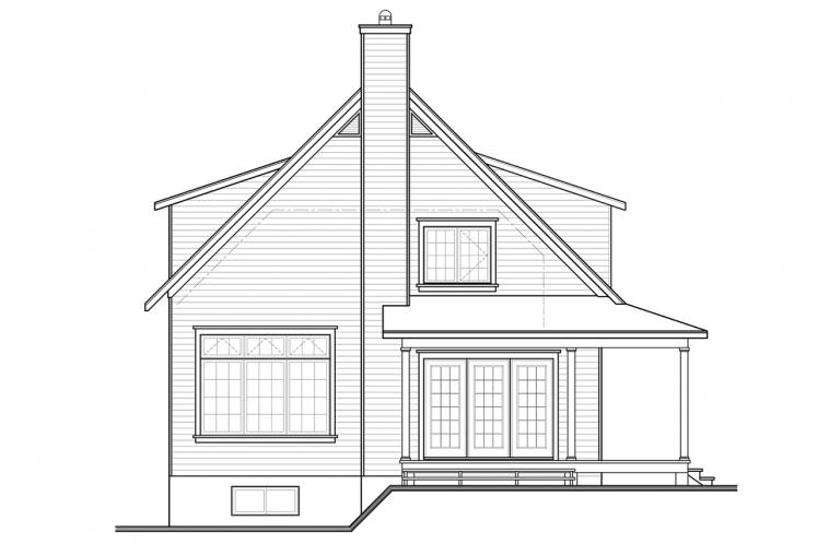 Country House Plan - Hickory Lane 2 61319 - Rear Exterior