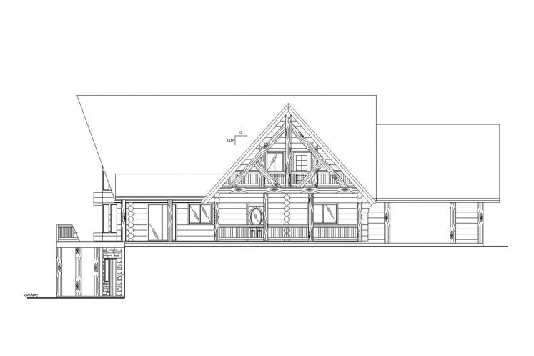 Country House Plan -  61448 - Right Exterior
