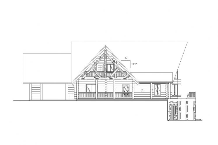 A-Frame House Plan -  61448 - Left Exterior