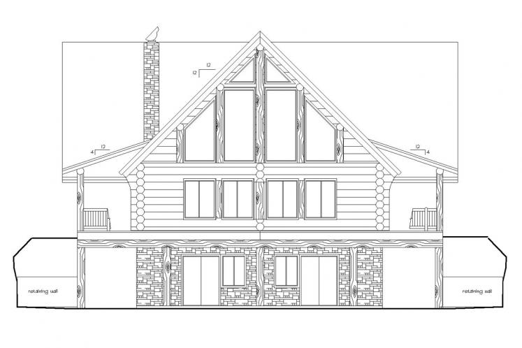 Country House Plan -  61448 - Rear Exterior