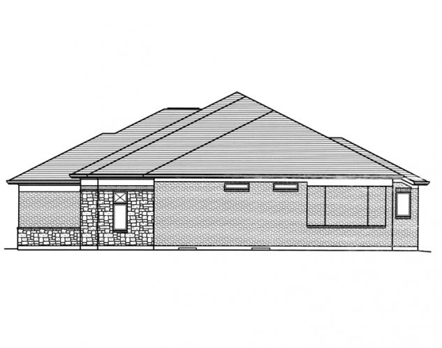 Ranch House Plan - Orion 61488 - Right Exterior