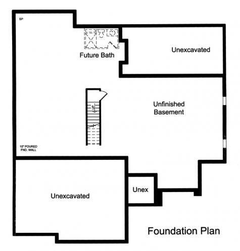 Ranch House Plan - Orion 61488