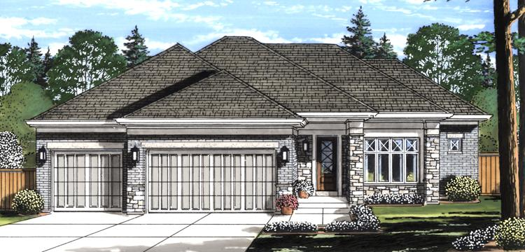 Contemporary House Plan - Orion 61488 - Front Exterior