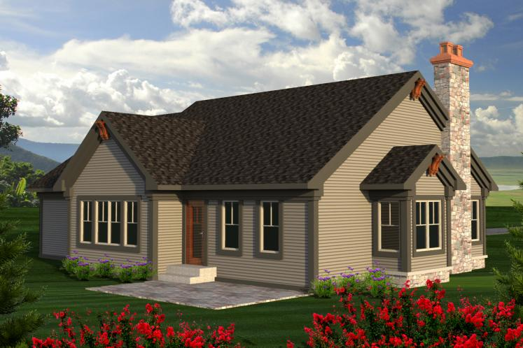 European House Plan -  61544 - Rear Exterior
