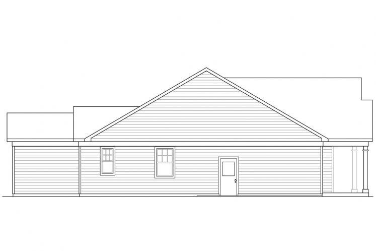 Traditional House Plan - Westcliff 61563 - Left Exterior
