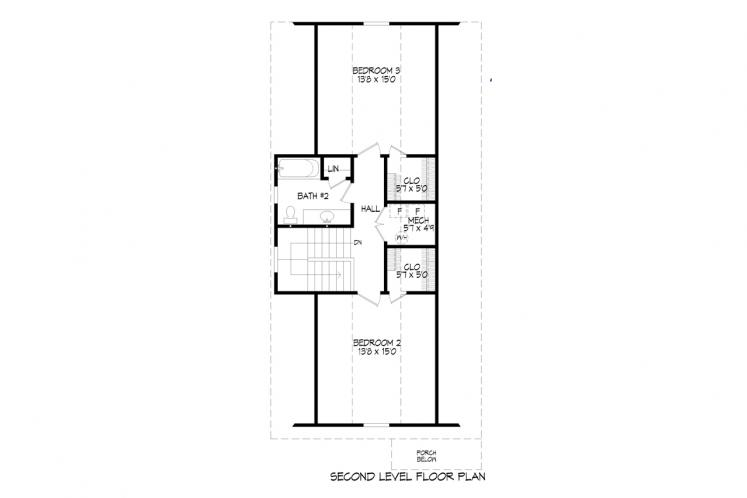 Cottage House Plan -  61599 - 2nd Floor Plan