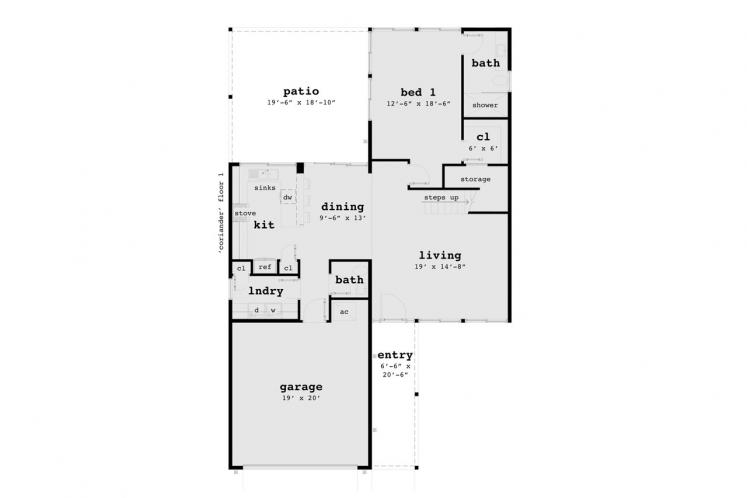 Modern House Plan - Coriander 61728 - 1st Floor Plan
