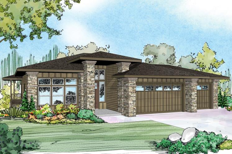Bungalow House Plan - Hood River 61734 - Front Exterior