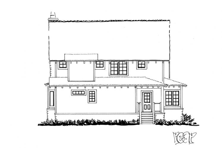 Bungalow House Plan - Aspen Grove 61931 - Rear Exterior