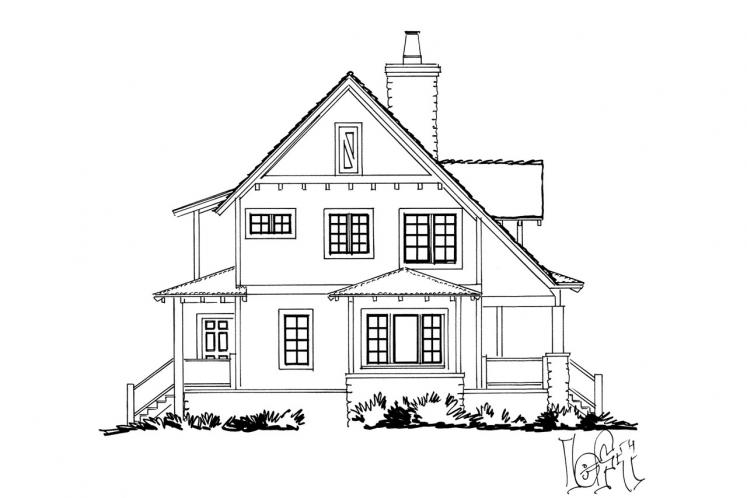 Traditional House Plan - Aspen Grove 61931 - Left Exterior