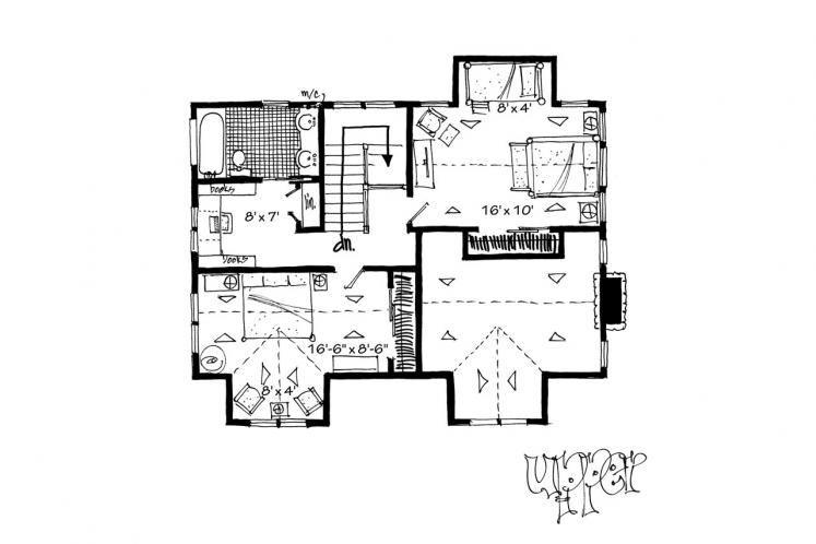 Traditional House Plan - Aspen Grove 61931 - 2nd Floor Plan