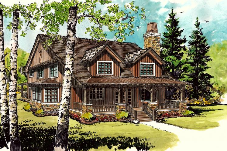 Country House Plan - Aspen Grove 61931 - Front Exterior