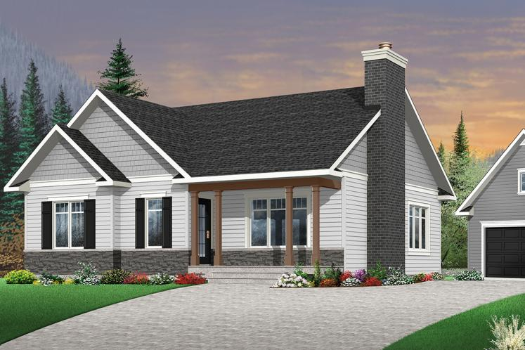 Country House Plan - Bradley 3 61933 - Front Exterior
